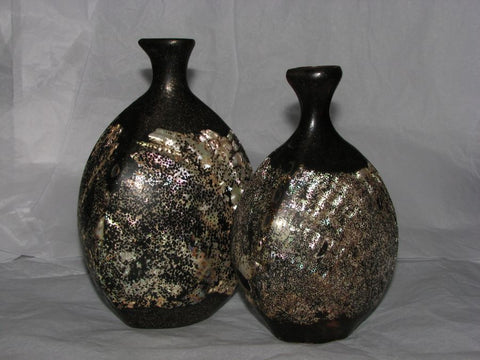 A rare pair of Japanese shell and lacquer tokuriRef: