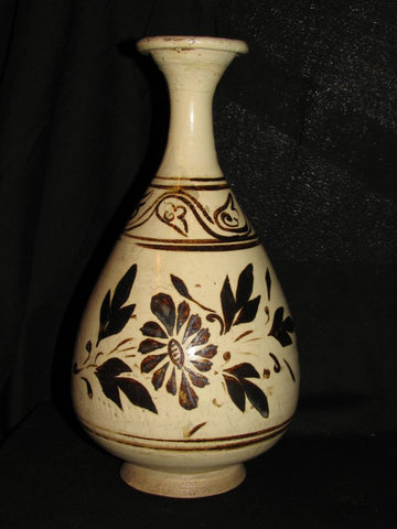 A Cizhou yuhuchun vase with iron-painted floral decoration.