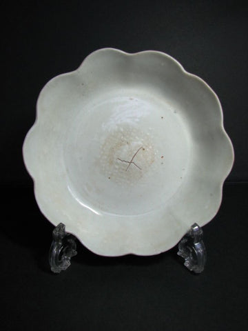 A rare foliate dish of qingbai or shufu type.