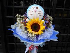 E. Soft Toy with Flower Bouquet