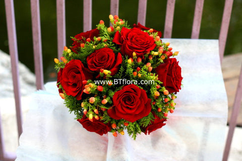 Rose & Berry Bridal Bouquet - WED0213