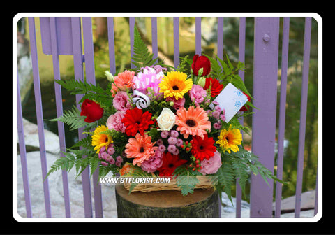 Colourful Flower Basket  - FLB5570