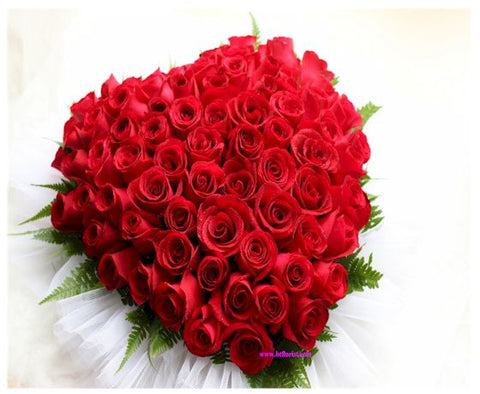 Big Heart Roses Arrangement - WED0530