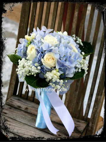 Hydrangea n Rose Bridal Bouquet  - WED0129