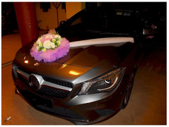 Simple Theme Car decoration ( Purple/Pink/White)- WED0629