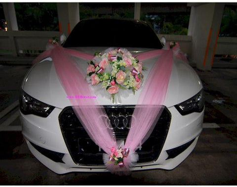 Double V Shape Theme Car Decoration    - WED0621