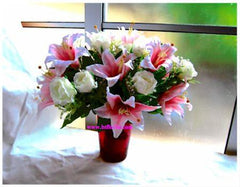 Artificial Roses and lilies -ART8065