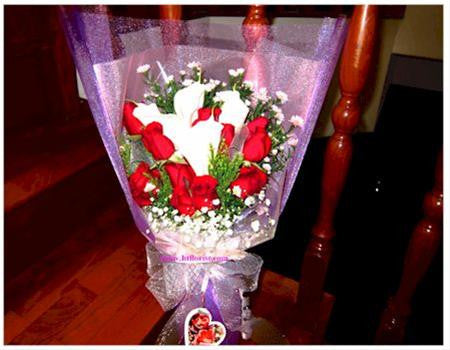 Calla Lily & Rose Bouquet - FBQ1162