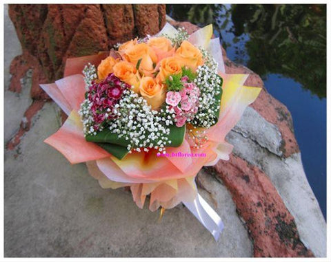 Orange Rose Bouquet      - FBQ1170
