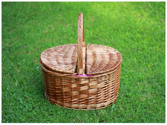 Oval Brown Picnic Basket - PIC0304
