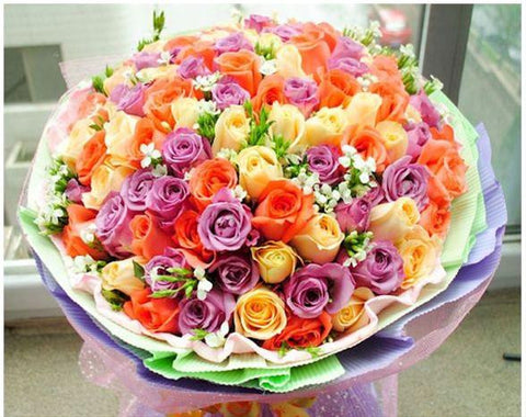 60 to 108 Colourful Roses Bouquet       - FBQ1190