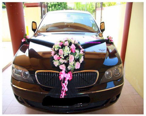 Pink/Black Theme Car Decoration  - WED0655
