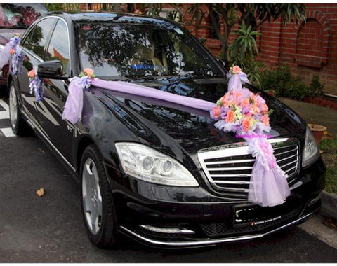 Purple/Pink Theme Car Decoration  - WED0660