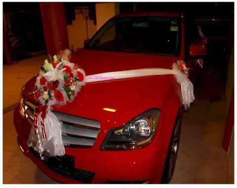 Red/White/Gold Theme Car Decoration - WED0665