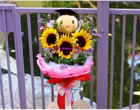 Graduation Tortoise Bouquet  - BBQ2127T