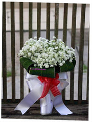 Small Baby Breath Bridal Bouquet   - WED0266