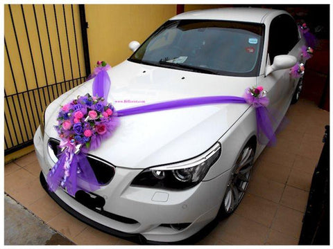 Purple/Lilac Theme Car Decoration  - WED0683