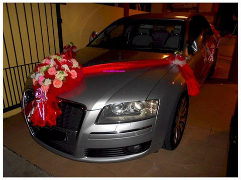 Red/Pink Theme Car Decoration  - WED0690