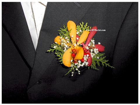Twin Orchid Corsage - WED0240