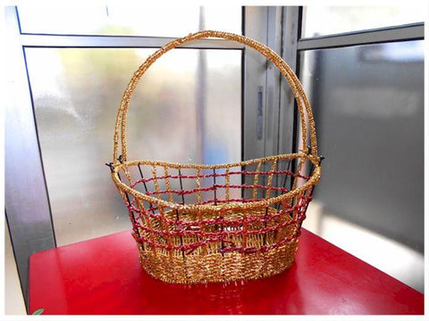 Gold Rope Basket - BAS0497