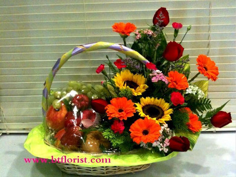 Flower & Fruit Basket   - FRB5501W