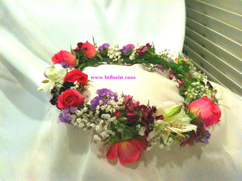 Iris / Rose Headdress     - WED0303