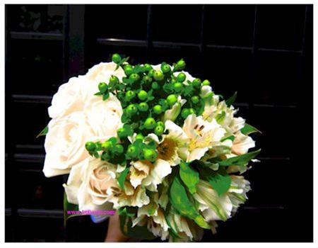 Green/White Bridal Bouquet  - WED0107
