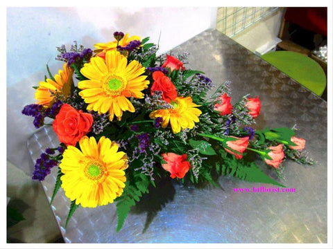 Gerbera n Rose Arrangement  - TBF4035