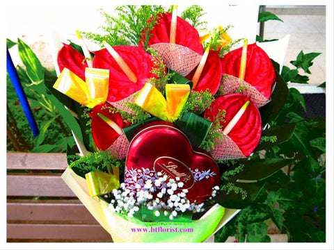 Chocolate n Anthurium Bouquet - CHO1041