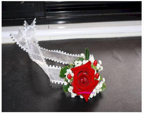 Fresh Rose Wrist Corsage - WED0367
