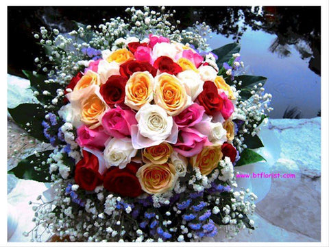 Colourful Rose Bouquet     - FBQ1067