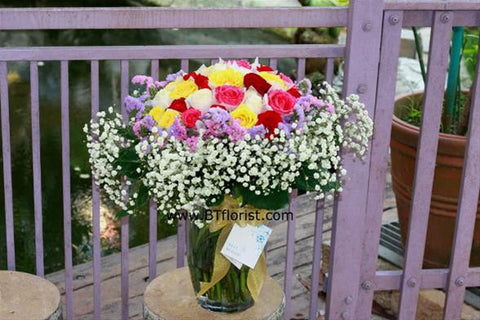 Colourful Bouquet (In Vase)   - TBF4042