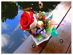 Single Rose with Chocolates  - FBQ1075