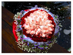 60 to 108 Heart Shape Roses Bouquet  - FBQ1089