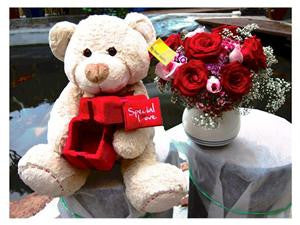 18 Inch Proposal Bear      - BEK542