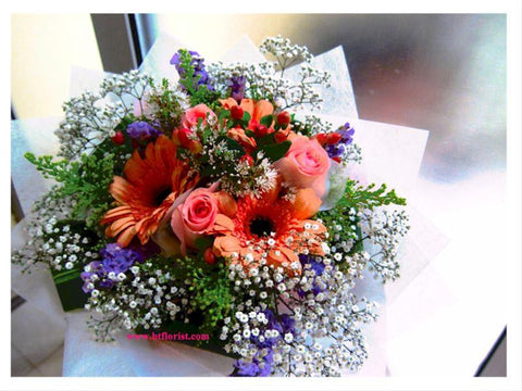 Gerbera n Rose Bouquet - FBQ1114