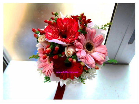 Gerbera Bridal Bouquet  - WED0141