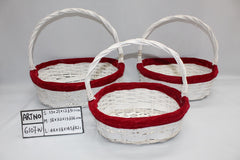 White/Red Basket    - BAS6107