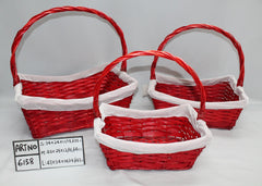 White/Red Basket  II - BAS6158