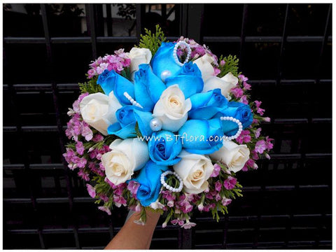 Blue & White & Pink - WED0190