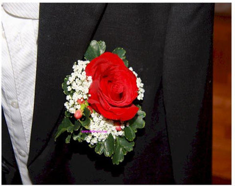 Red Rose Corsage II - WED0222
