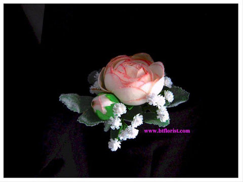 Artificial Light Pink Ranunculus Corsage     - ART0409