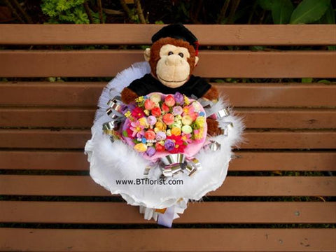 Graduation Monkey Bouquet - BWF2036