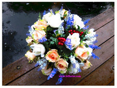 Artificial Roses & Lavendar flowers  -ART8050