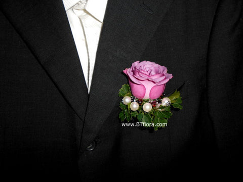 Rose with Special Pearl Corsage- WED0280