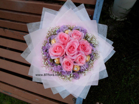 Rose w Chocolate Bouquet  - CHO1255
