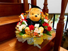 Graduation Pooh Arrangement   - BWF3568