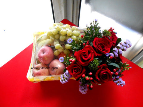 Simple Flower & Fruit Basket   - FRB5549