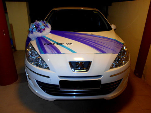 Purple/Blue Creative Theme Car Decoration     - WED0755