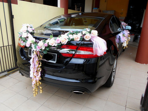 Pink/Champagne Theme Car Decoration     - WED0757